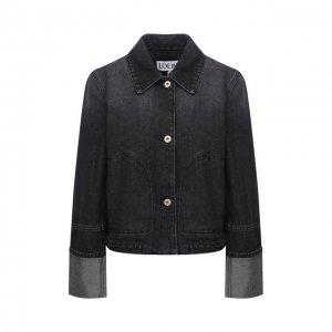 Джинсовая куртка Loewe. Цвет: чёрный