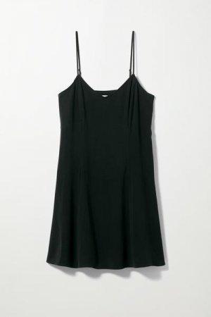 Короткое платье-комбинация Fawn Weekday. Цвет: черный