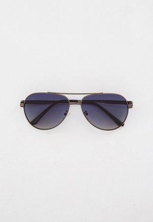 Очки солнцезащитные Marco Bonne`. Цвет: серебряный