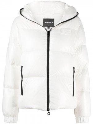 Куртка-пуховик с длинными рукавами Duvetica. Цвет: белый