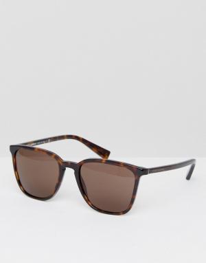 Квадратные солнцезащитные очки в черепаховой оправе Dolce & Gabbana. Цвет: коричневый