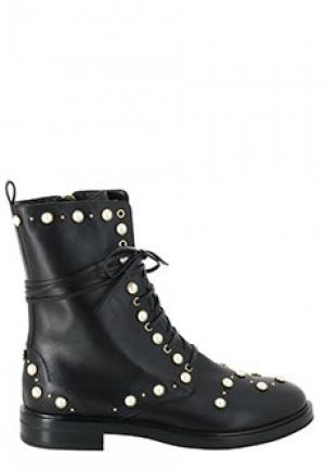 Ботинки CASADEI. Цвет: черный