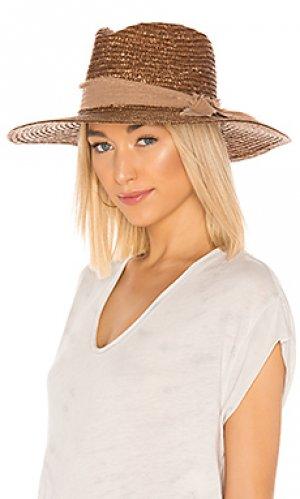 Шляпа solange ale by alessandra. Цвет: коричневый