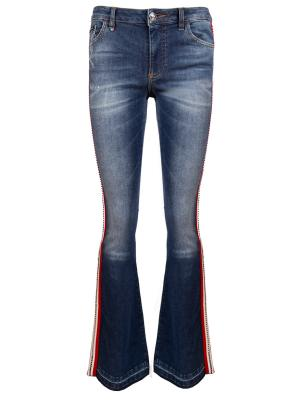 Расклешенные джинсы с лампасами PHILIPP PLEIN