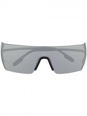 Солнцезащитные очки-маска Kenzo. Цвет: черный