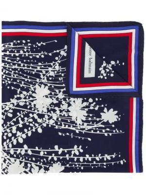 Шарф с цветочным принтом Balmain Pre-Owned. Цвет: синий