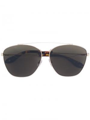 Солнцезащитные очки с оправой авиатор Givenchy Eyewear. Цвет: коричневый