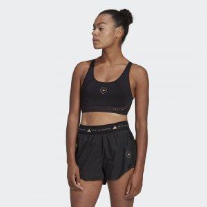 Спортивный бра TruePurpose Medium by Stella McCartney adidas. Цвет: черный