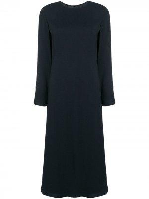 Расклешенное платье с длинными рукавами Theory. Цвет: черный