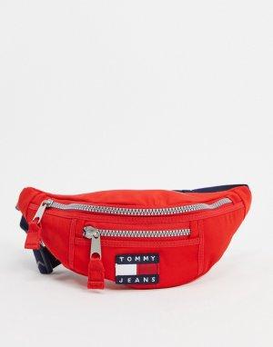 Нейлоновая сумка-кошелек на пояс -Красный Tommy Jeans