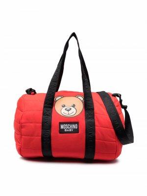 Teddy Bear-print changing bag Moschino Kids. Цвет: красный