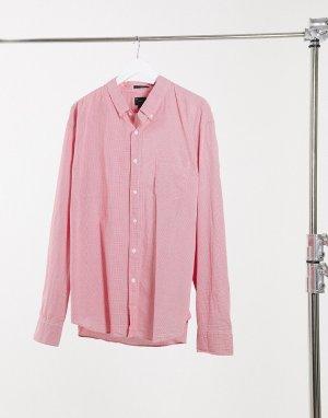 Рубашка в мелкую клетку с длинными рукавами -Красный J Crew