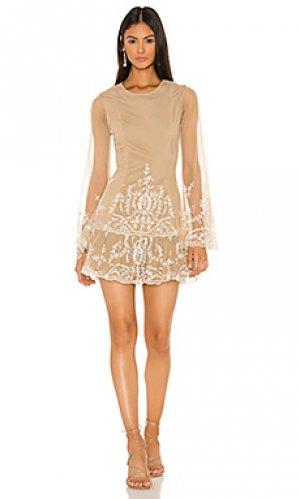 Мини-платье с длинным рукавом tonia Tularosa. Цвет: серо-коричневый