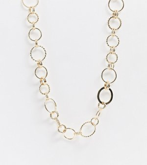 Золотистое ожерелье-цепочка -Золотой Monki