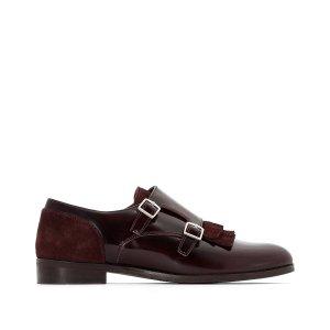 Ботинки-дерби La Redoute. Цвет: красный