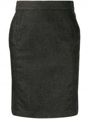 Джинсовая юбка-карандаш Céline Pre-Owned. Цвет: синий