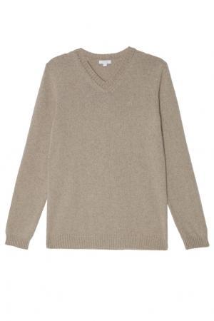 Бежевый пуловер Gucci Kids. Цвет: multicolor