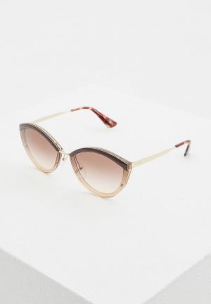 Очки солнцезащитные Prada PR 07US KOF0A6. Цвет: коричневый