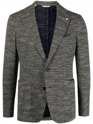 Пиджак Nuvola из джерси без подкладки Manuel Ritz. Цвет: зеленый