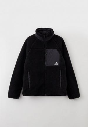 Куртка утепленная adidas SHERP REV JKT. Цвет: черный