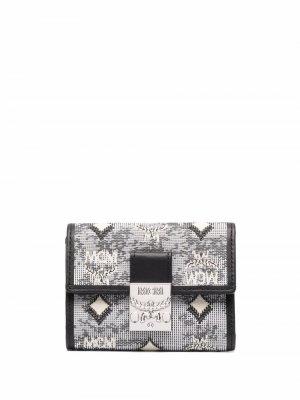 Мини-кошелек с монограммой MCM. Цвет: серый