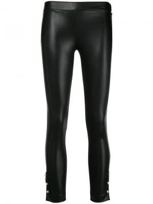 Укороченные брюки из искусственной кожи Twin-Set