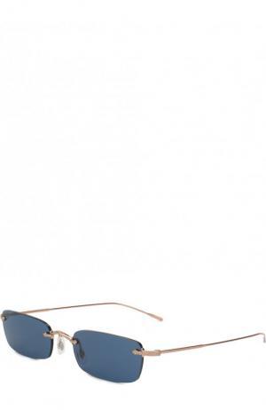 Солнцезащитные очки Oliver Peoples. Цвет: темно-синий