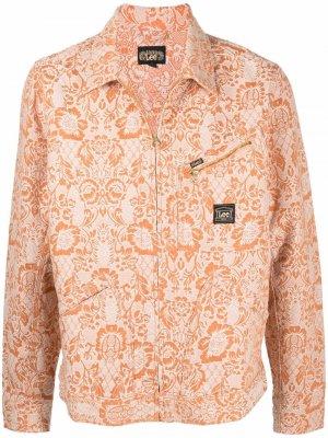 Куртка 191 с цветочным принтом из коллаборации Lee Aries. Цвет: оранжевый