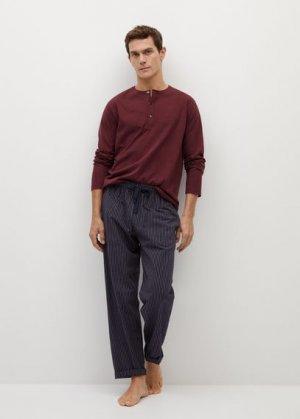 Комплект пижама из хлопка - Pistrip Mango. Цвет: темно-синий