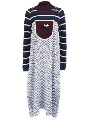 Шерстяное платье GRINKO. Цвет: разноцветный