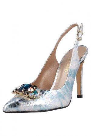 Босоножки EL Dantes. Цвет: silver, light blue