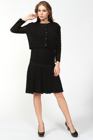 Комплект: платье, жакет Ermanno Scervino. Цвет: черный