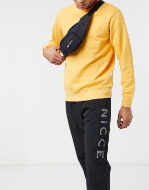 Черная сумка-кошелек на пояс с маленьким логотипом -Черный цвет Nicce