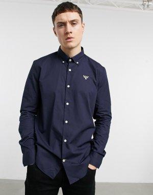 Темно-синяя рубашка -Темно-синий Barbour Beacon