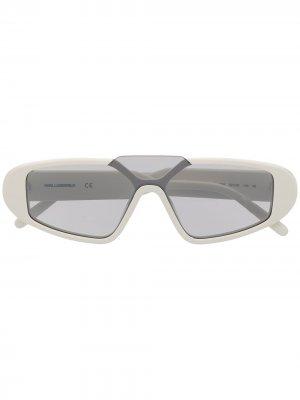 Солнцезащитные очки Rue St-Guillaume Mask Karl Lagerfeld. Цвет: белый