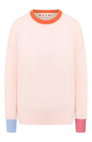 Кашемировый пуловер Marni. Цвет: розовый