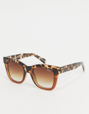 Коричневые черепаховые солнцезащитные очки -Коричневый Quay Australia