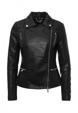 Куртка кожаная Concept Club. Цвет: черный
