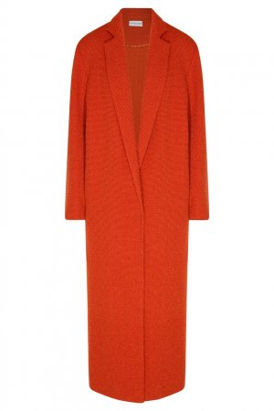 Шерстяное пальто оранжевого цвета Chapurin. Цвет: оранжевый