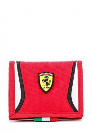 Кошелек Puma Ferrari Replica Wallet rosso corsa-white. Цвет: красный