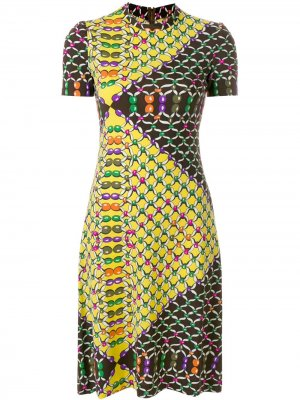 Платье с принтом короткими рукавами LANVIN Pre-Owned. Цвет: разноцветный
