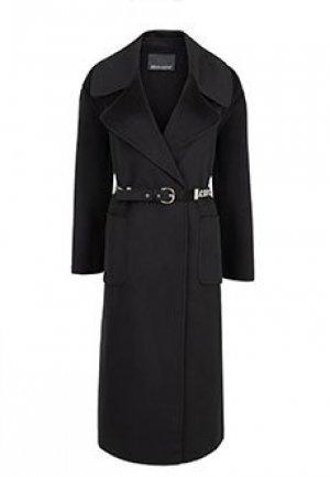 Пальто ERMANNO SCERVINO. Цвет: черный