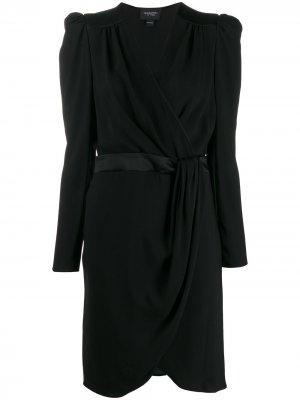 Платье миди с запахом Giambattista Valli. Цвет: черный