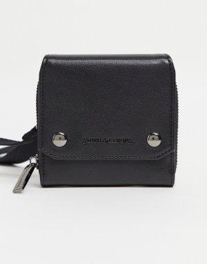 Кожаный бумажник через плечо Smith & Canova-Черный And Canova