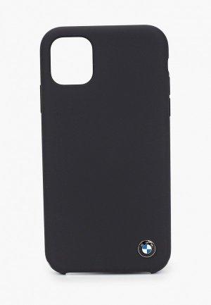 Чехол для iPhone BMW 11, Signature Liquid silicone Space grey. Цвет: черный
