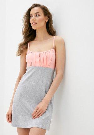 Сорочка ночная Блисс. Цвет: серый