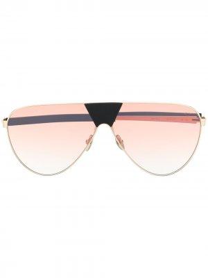 Солнцезащитные очки-авиаторы Spektre. Цвет: золотистый