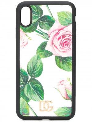 Чехол для iPhone XS Max с принтом Tropical Rose Dolce & Gabbana. Цвет: белый