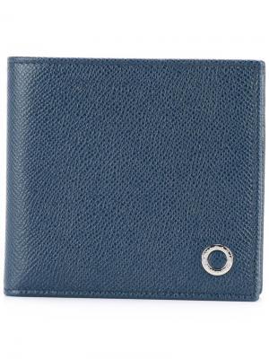 Классический бумажник Bulgari. Цвет: синий