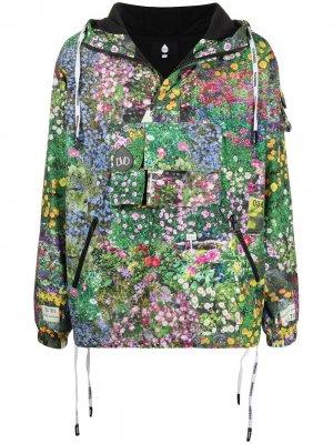 Анорак с цветочным принтом DUOltd. Цвет: зеленый